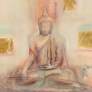 Buddha I of artist Elvira Amrhein as framed image