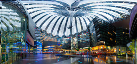 Kunstdruck: Rolf Fischer, Sony Center Panorama
