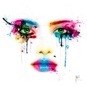 Colors of artist Patrice Murciano as framed image
