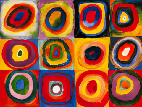 Fine Art Reproduction: Wassily Kandinsky, Farbstudie Quadrate