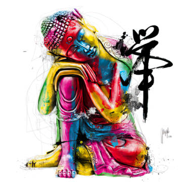 Buddha of artist Patrice Murciano as framed image