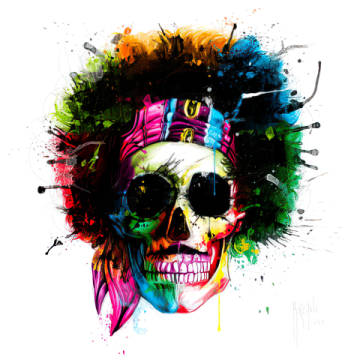 Woodstock Skull of artist Patrice Murciano as framed image