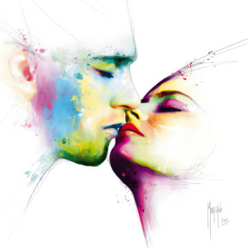 Le baiser of artist Patrice Murciano as framed image
