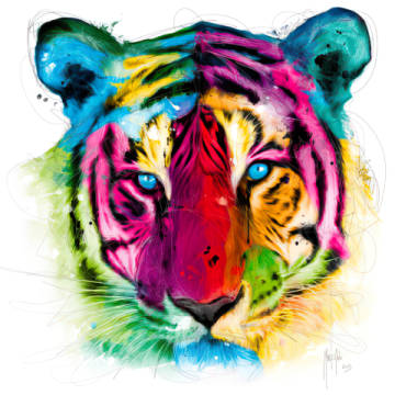 Tiger Pop of artist Patrice Murciano as framed image
