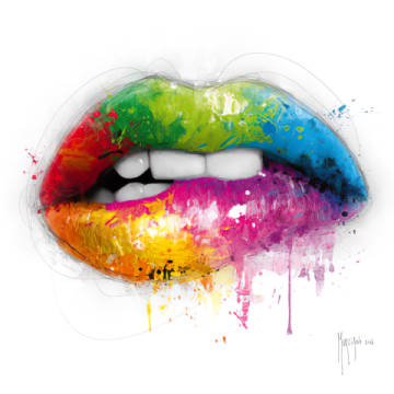 Lipstick of artist Patrice Murciano as framed image