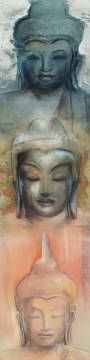 Buddha III of artist Elvira Amrhein as framed image