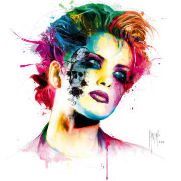 Skin Pop of artist Patrice Murciano as framed image