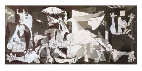 Guernica of artist Pablo Picasso as framed image