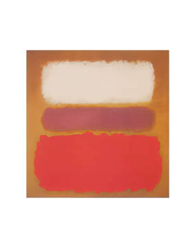 White Cloud over Purple, 1957 of artist Mark Rothko as framed image