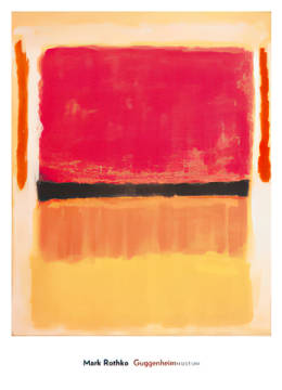 Untitled (Violet, Black, Orange, Yellow of artist Mark Rothko as framed image