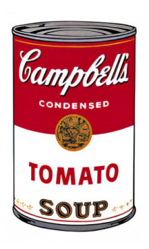 Campbell's Soup I:  Tomato, 1968 of artist Andy Warhol as framed image