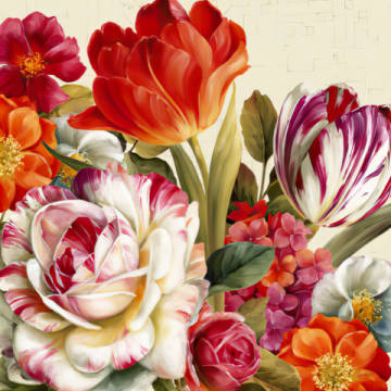 Kunstdruck: Lisa Audit, Garden View Tossed - Florals