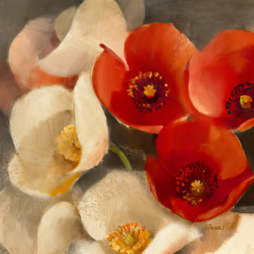Kunstdruck: Albena Hristova, Poppies Bloom III