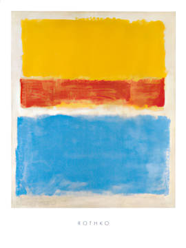 Untitled (Yellow-Red and Blue) von Künstler Mark Rothko als gerahmtes Bild