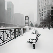 Dave Butcher - Chicago River Promenade in Winter
