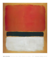 Mark Rothko - Untitled (Red, Black, White on Yellow), 1955