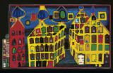 Yellow houses - it hurts to wait with love if love is somewehere else of Friedensreich Hundertwasser