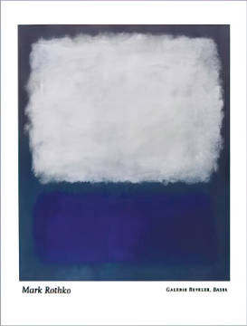 Blue and grey, 1962 of artist Mark Rothko as framed image