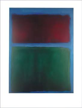 Erdbraun und Grün - 1955 of artist Mark Rothko as framed image