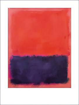 Untitled, 1960-61 of artist Mark Rothko as framed image