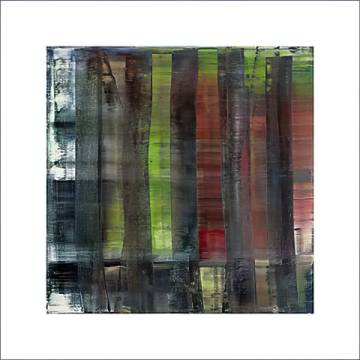 Abstract Painting, 1992 of artist Gerhard Richter as framed image
