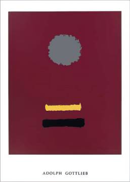 Untitled, 1969 of artist Adolph Gottlieb as framed image