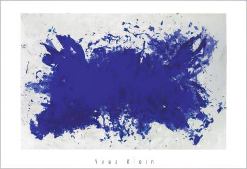 Hommage à Tennessee of artist Yves Klein as framed image