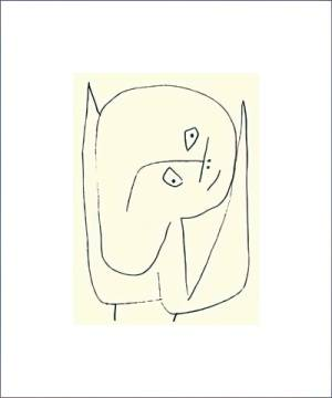 Engel voller Hoffnung, 1939 of artist Paul Klee as framed image