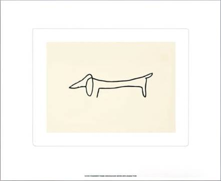 The Dog of artist Pablo Picasso as framed image