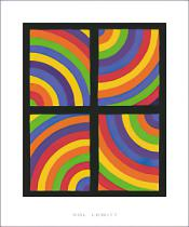 Sol LeWitt - Color Arcs in four Directions, 1999