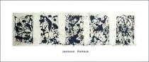 Jackson Pollock - Black and white Polyptych