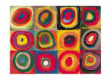 Colour Study: Squares with Concentric Circles of Wassily Kandinsky
