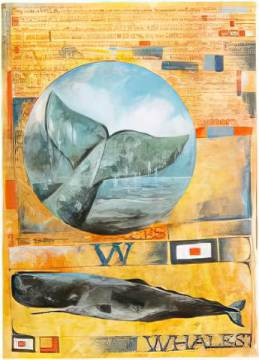 Song of the Whales of artist Ole West as framed image