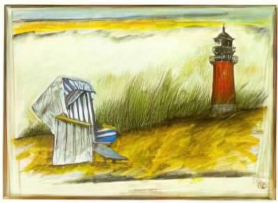 Ole West: Äh, waren wir verabredet?. Art Print, Canvas on