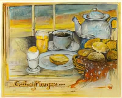 Klassischer Kunstdruck Guten Morgen Von Ole West