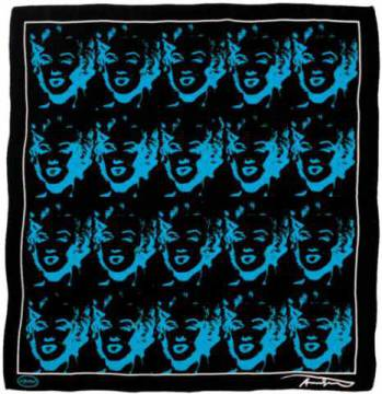 Silk Towels: Andy Warhol, Marilyn Blau