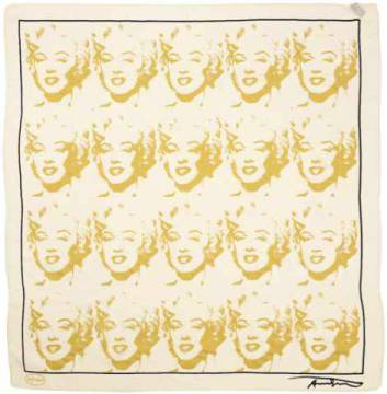 Silk Towels: Andy Warhol, Marilyn Gold
