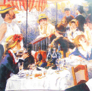 Seidentuch: Pierre Auguste Renoir, Boatparty