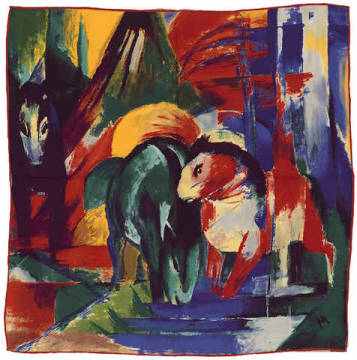Pferde am Waldwasser of artist Franz Marc as framed image