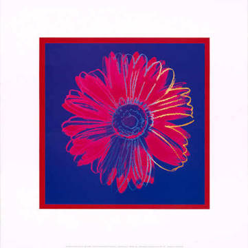 klassischer Kunstdruck: Andy Warhol, Daisy, c.1982 (blue and red)