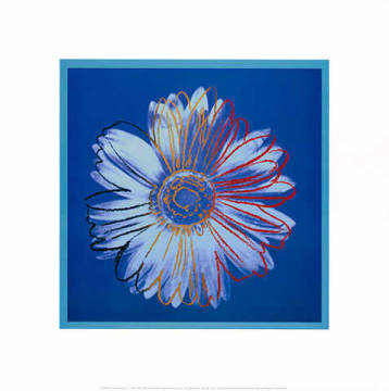 Art Print: Andy Warhol, Daisy, c.1982 (blue on blue)