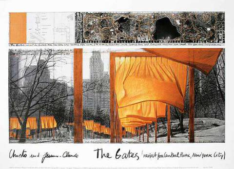 The Gates IX of artist Christo und Jeanne-Claude as framed image