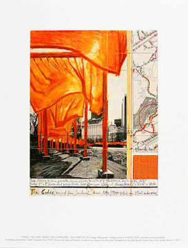 The Gates XX - Project for Central Park of artist Christo und Jeanne-Claude as framed image