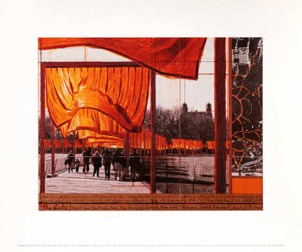 klassischer Kunstdruck: Christo und Jeanne-Claude, The Gates XXVI - Project for Central Park