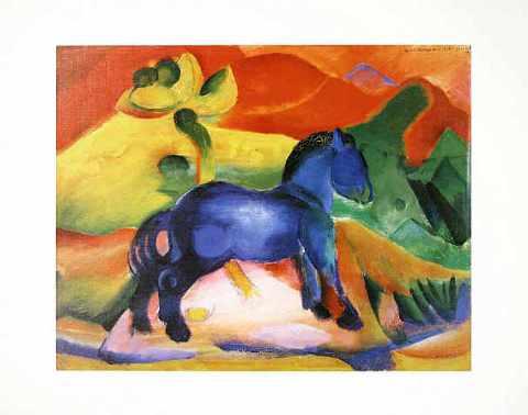 franz marc blaues pferdchen 1912 kunstdruck poster. Black Bedroom Furniture Sets. Home Design Ideas