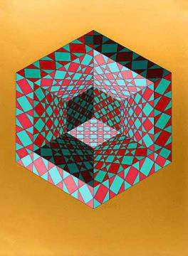 Grafik: Victor Vasarely, Bi-Sanction