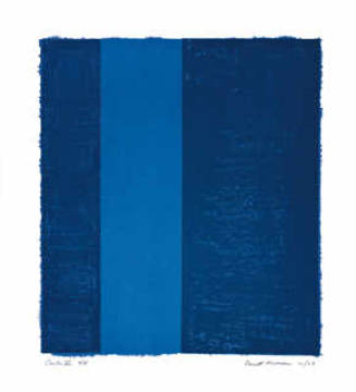 Canto VII, 1963 of artist Barnett Newman as framed image
