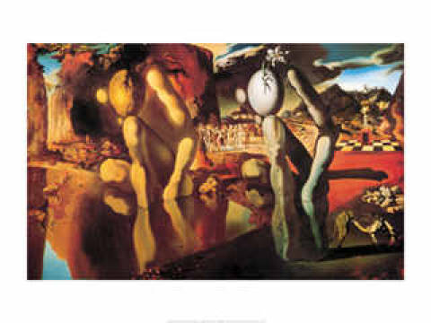 Art Print: Salvador Dalí, Metamorphosis of Narcissus