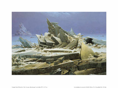 Das Eismeer of artist Caspar David Friedrich as framed image