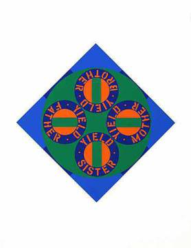 Graphic Art: Robert Indiana, Yield brother 2